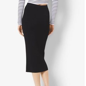 Michael Kors black ribbed skirt